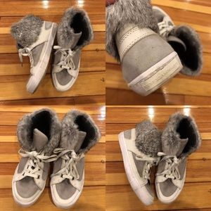 Rebecca Minkoff High Top Sneakers Size 9 rabbit